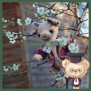 【 AB004】Artist Bear - Franklin ( 梅花豬 )